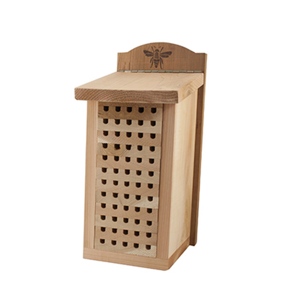 Heavy Duty Cedar Mason Bee House