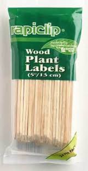Wood Plant Labels, 5 Inch
