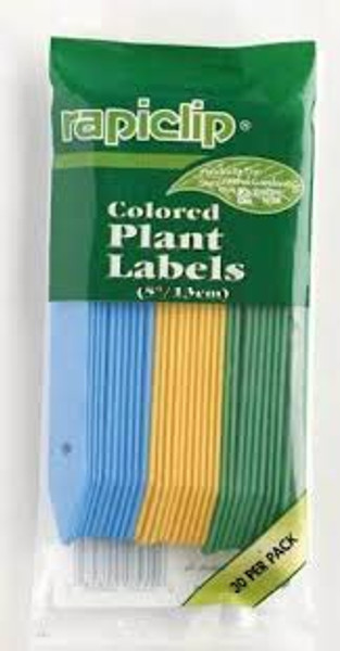Colored Plant Labels, 5 Inch