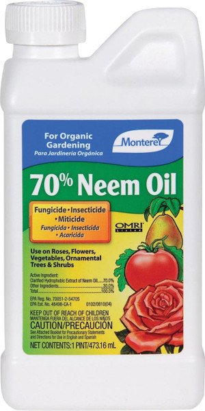 Monterey 70% Neem Oil, 1 Pint Concentrate