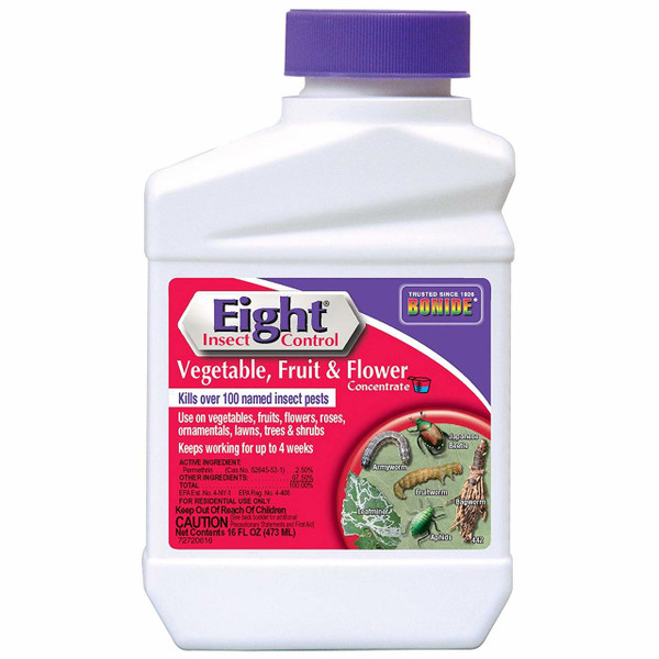 EIGHT® Insect Control, Vegetable, Fruit & Flower 16oz. Concentrate