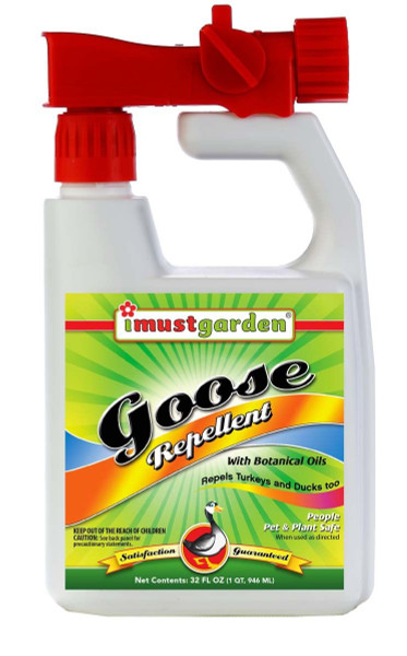 All Natural Goose Repellent, 32oz Concentrate w/Hose-End Sprayer