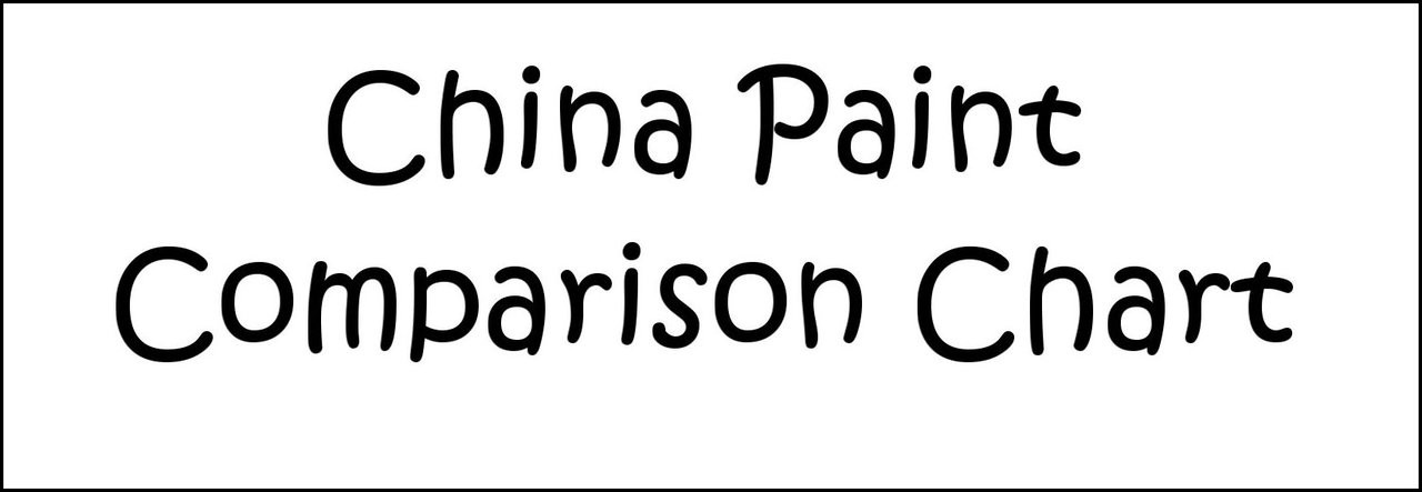 China Paint Comparison Chart