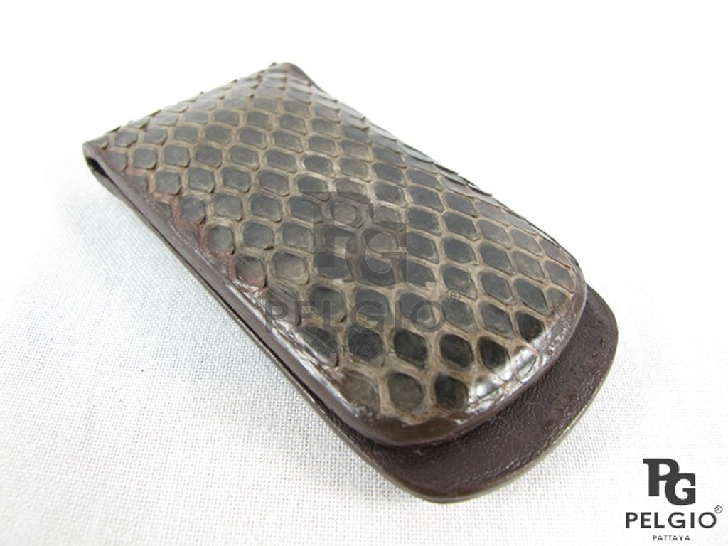 Genuine Python Skin Magnetic Money Clip Brown [PYRCH002ABR04G]