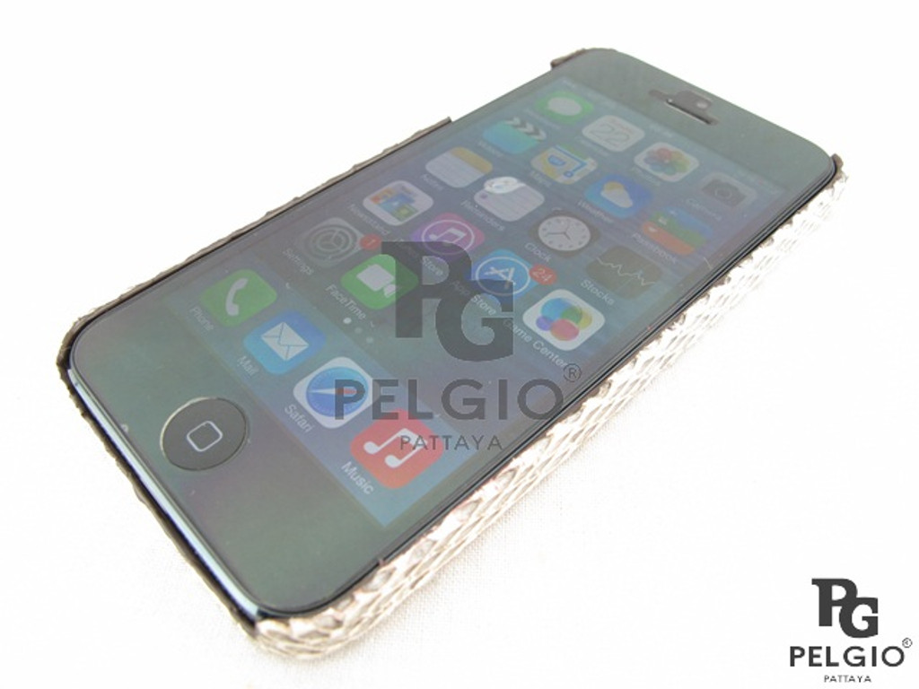 Genuine Masked Water Snake Belly Skin iPhone 5 5S Hard Case Natural [WSPC001BNT01G]