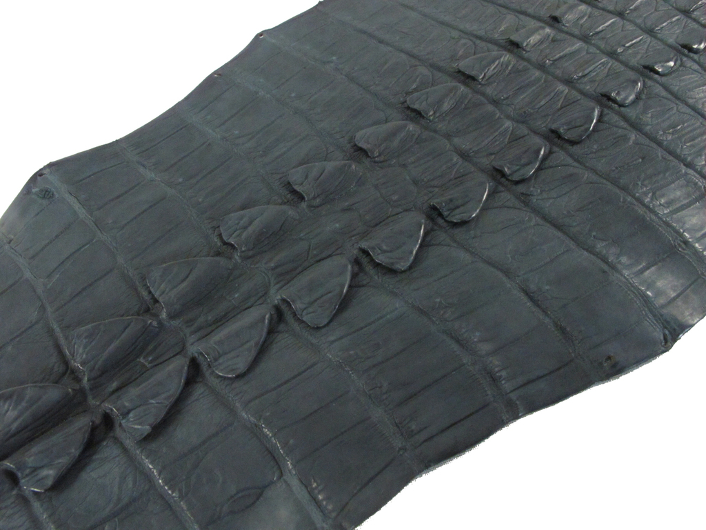 Genuine Crocodile Tail Skin Hide Matte Black Grade A [CRSTFBK01M-C]
