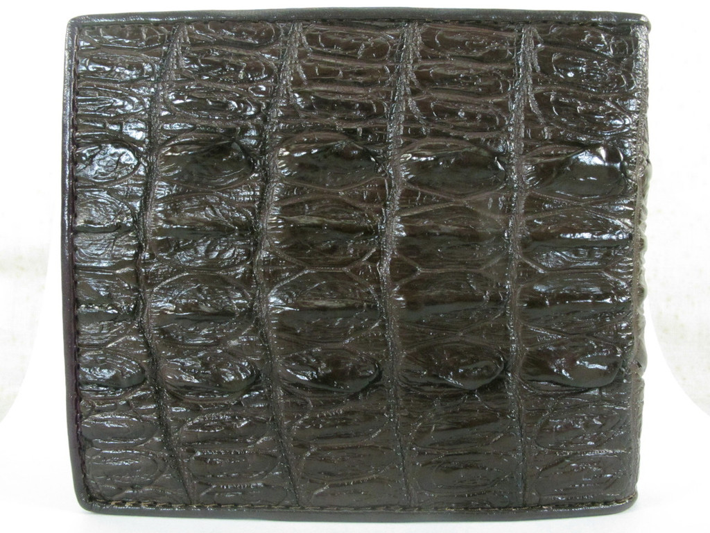 Genuine Crocodile Tail Skin Wallet Brown [CRUS0001-012FT1HBR01M-NCWB2 ]
