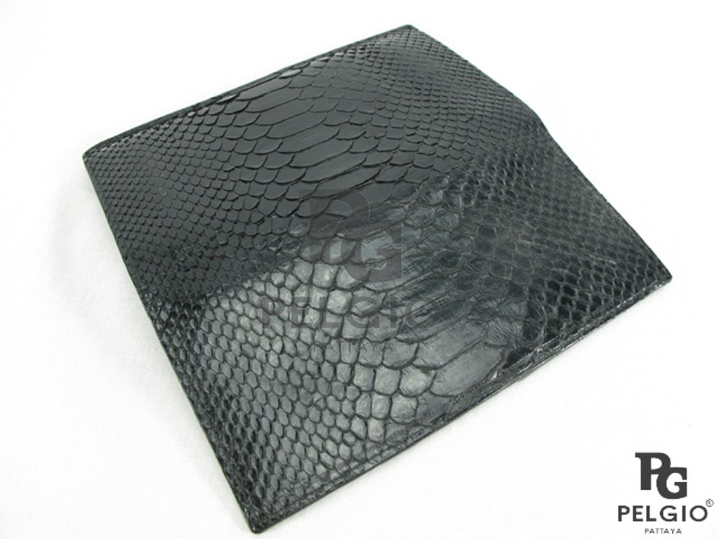 Genuine Python Skin Checkbook Wallet Natural [PYNCB002BK01G]