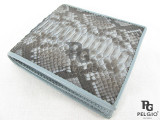 Genuine Python Belly Skin Men's Wallet Grey Color [PYRUS002GY01G]