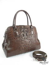 Genuine Alligator Leather Luxury Tote Purse Brown [8859322411863]