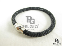 Genuine Polished Stingray Skin Maagnetic Bracelet [SRBL0001-00106R-VNNA0100]