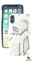 Genuine Burmese Python Skin Apple iPhone X 10 Hard Case Natural 88593224205681]