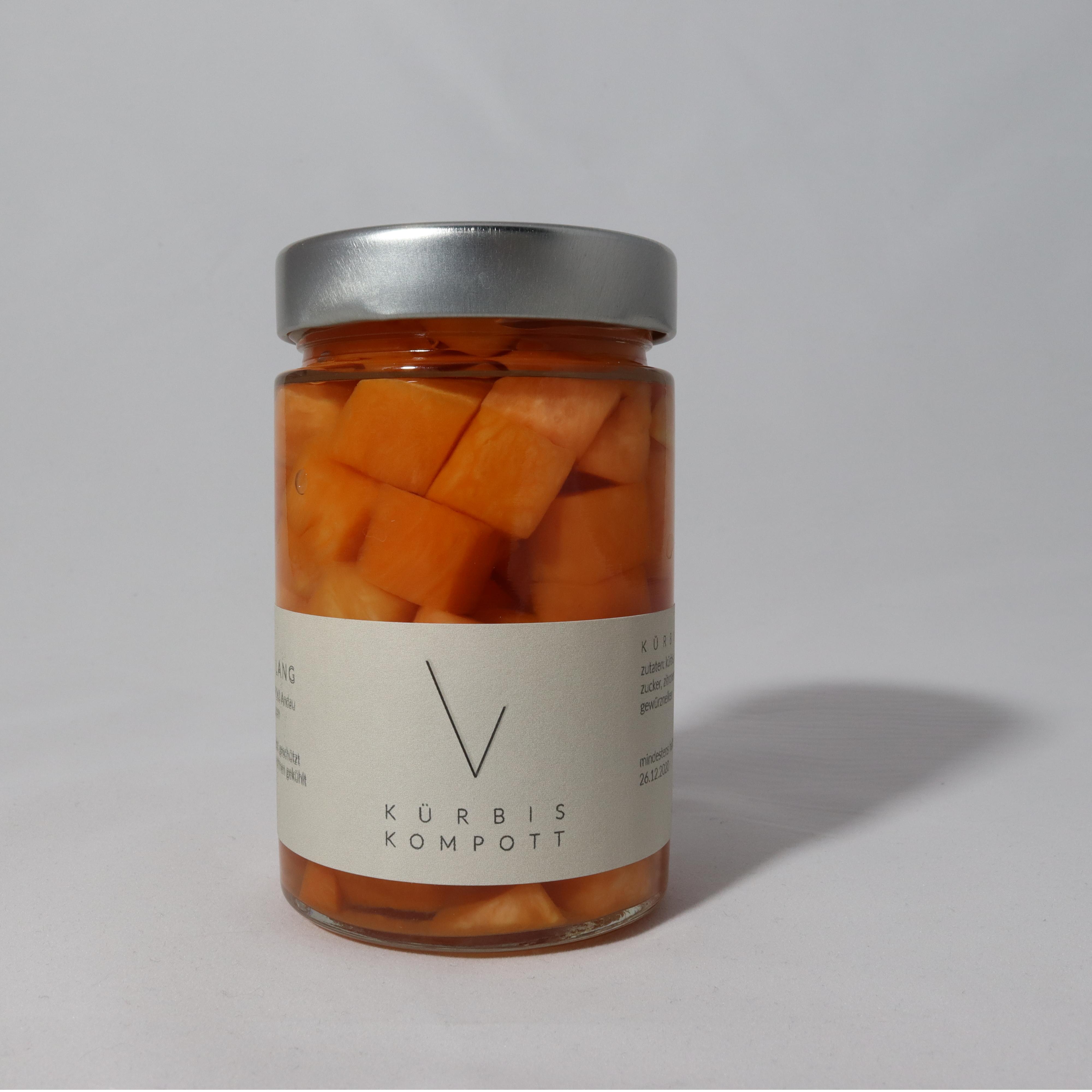 Hausgemachtes veganes Kürbis Kompott aus dem Seewinkel online kaufen Online shop Burgenland Neusiedlersee