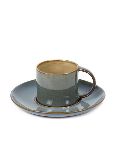 SERAX ESPRESSO TASSE UNTERTASSE ANITA LE GRELLE TELLER STEINGUT COFFE CUP STONEWARE MISTY GREY SMOKEY BLUE ONLINE SHOP ONLINE KAUFEN