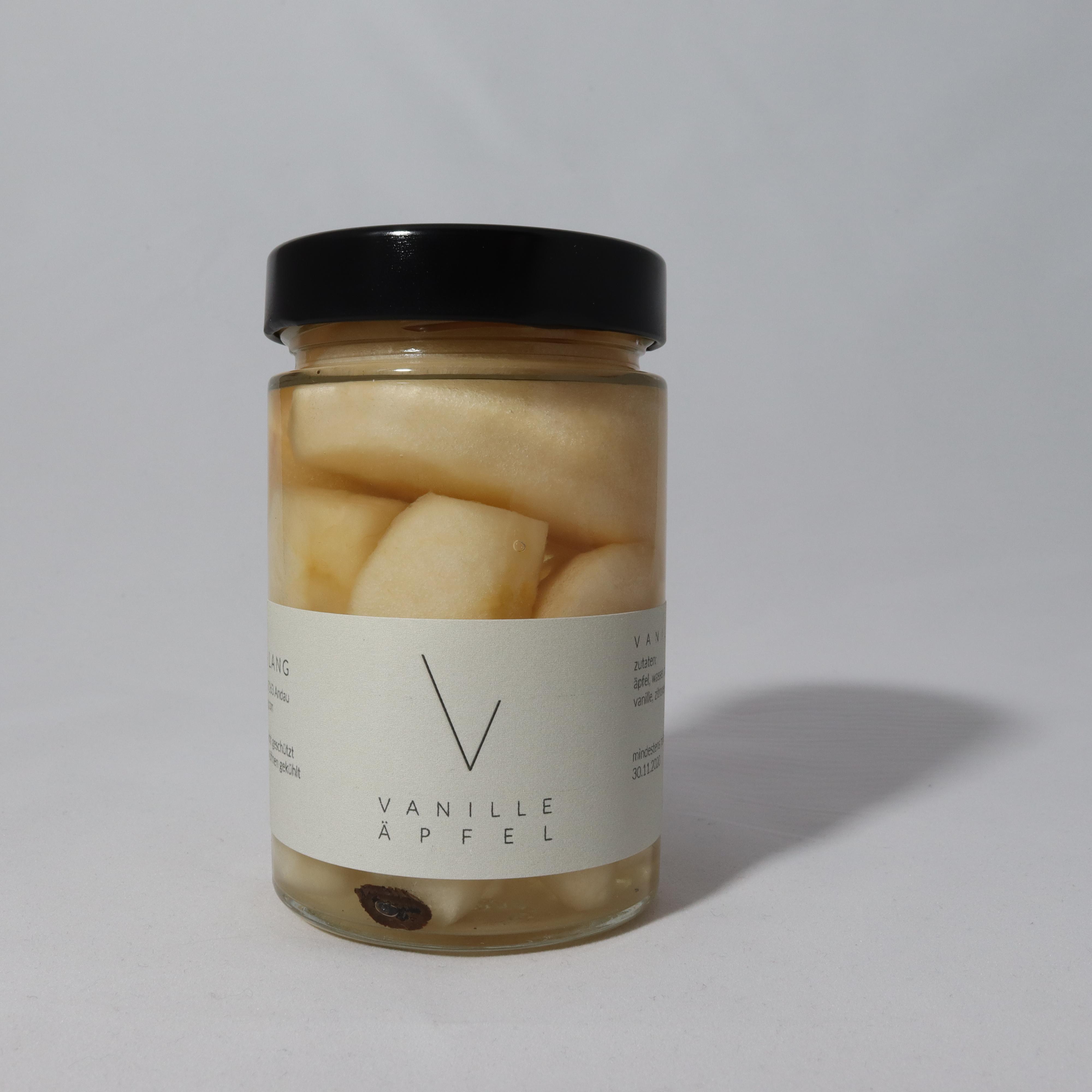 Hausgemachtes veganes Apfel Kompott mit Vanille aus dem Seewinkel online kaufen Online shop Burgenland Neusiedlersee