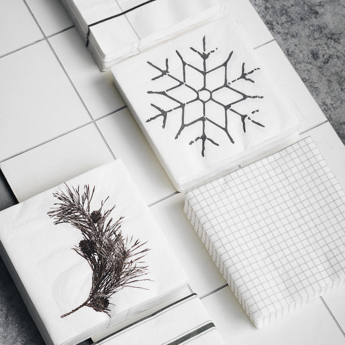 HOUSE DOCTOR SERVIETTE SNOWFLAKE SOCIETY OF LIFESTYLE