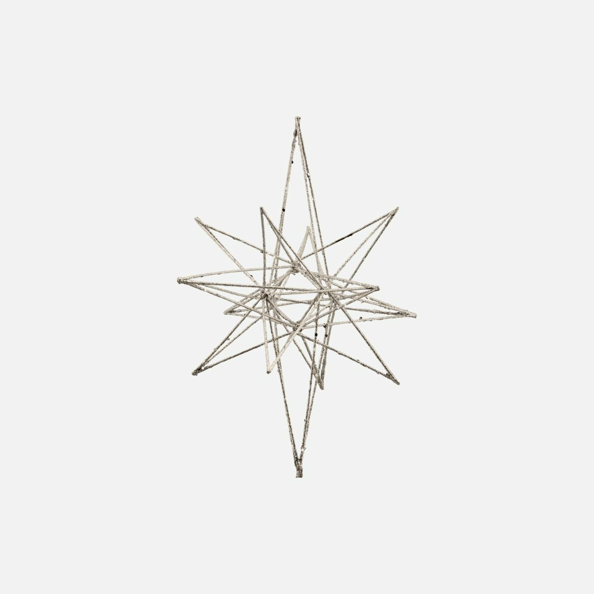HOUSE DOCTOR STERN ORNAMENT STAR CHAMPAGNER