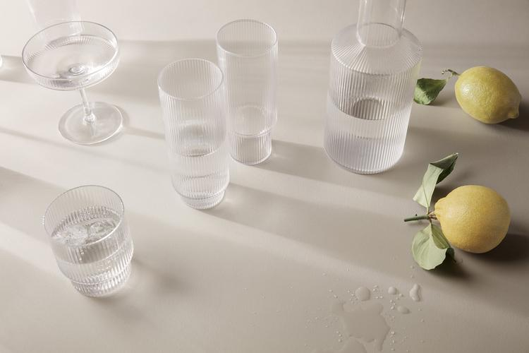 FERM LIVING RIPPLE CARAFE KARAFFE SMOKED CLEAR