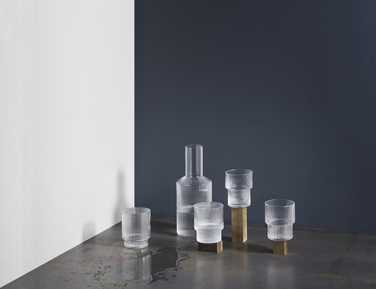 FERM LIVING RIPPLE GLAS CLEAR SET 4