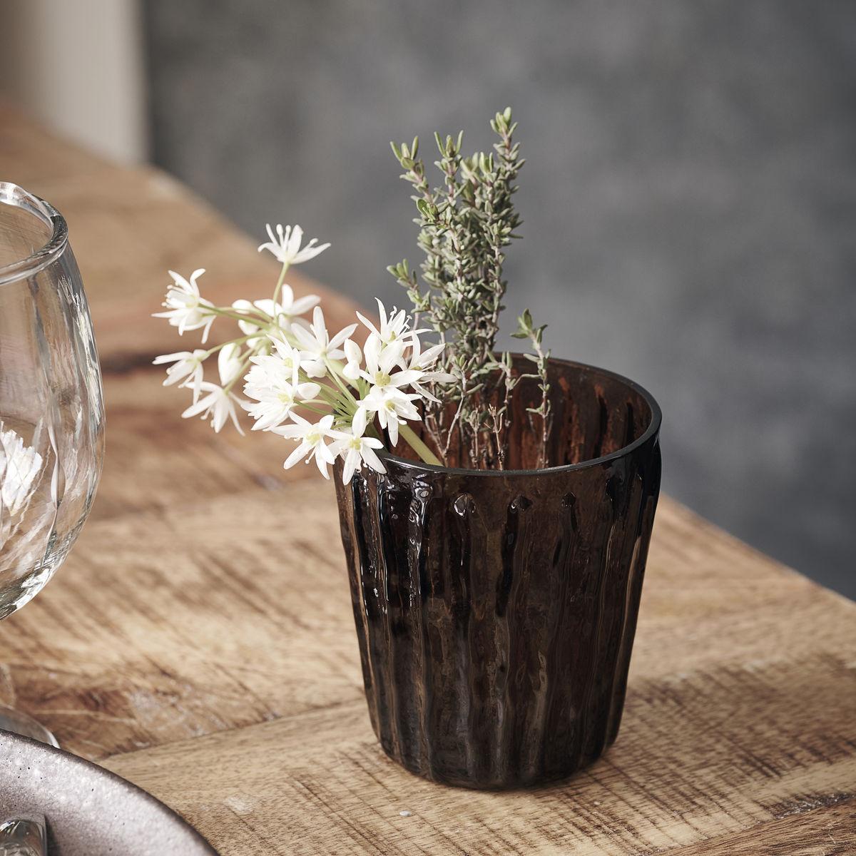 HOUSE DOCTOR TEALIGHT TINKA TEELICHT GLAS VASE BRAUN ONLINE SHOP