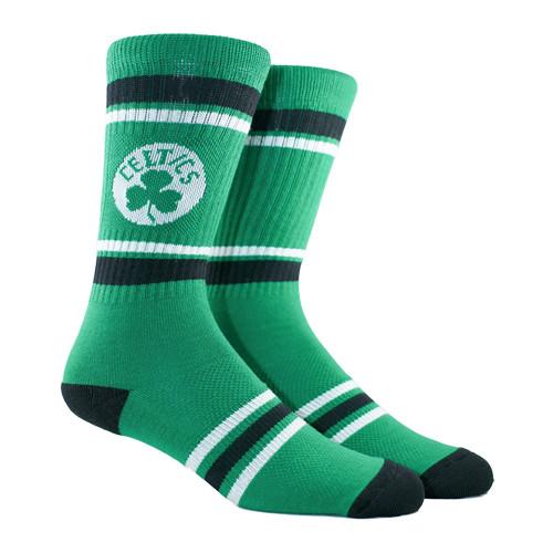 Boston Celtics Stripe Crew Socks
