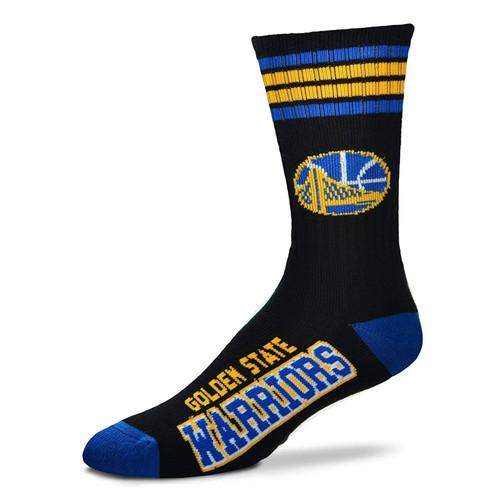 GOLDEN STATE WARRIORS NBA Golden State Warriors Black Crew Stripe Socks