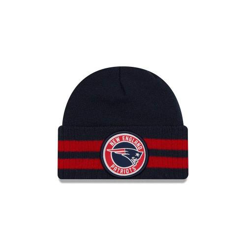 New Era 2 Striped Remix Knit Hat (One Size, New England Patriots)