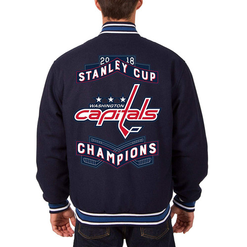 Washington Capitals Reversible Wool Jacket, 2018 Stanley Cup Champions