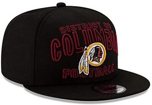 WASHINGTON REDSKINS The District Washington Football Team New Era NFL 9FIFTY Snapback Hat - Black