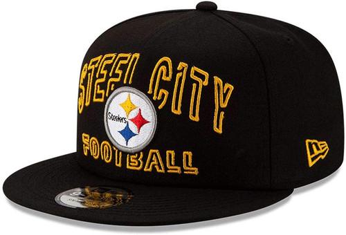 PITTSBURGH STEELERS STEEL CITY New Era NFL 9FIFTY Snapback Hat - Black