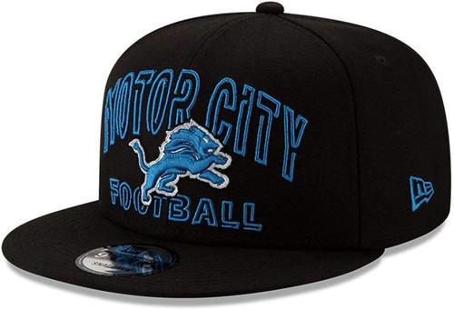 DETROIT LIONS MOTOR CITY New Era NFL 9FIFTY Snapback Hat - Black