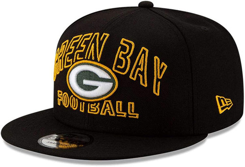 GREEN BAY PACKERS New Era NFL 9FIFTY Snapback Hat - Black