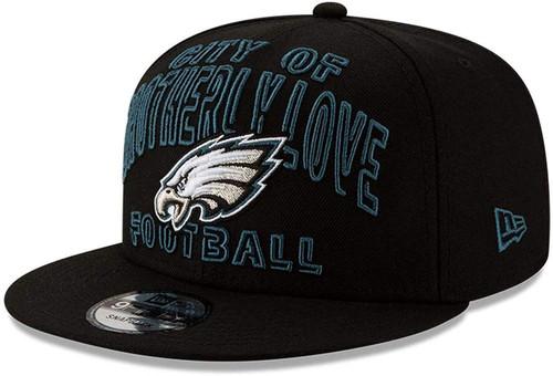 PHILADELPHIA EAGLES BROTHERLY LOVE New Era NFL 9FIFTY Snapback Hat - Black