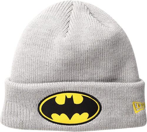 New Era Cap Men's Batman Heather Gray Cuff Knit Beanie