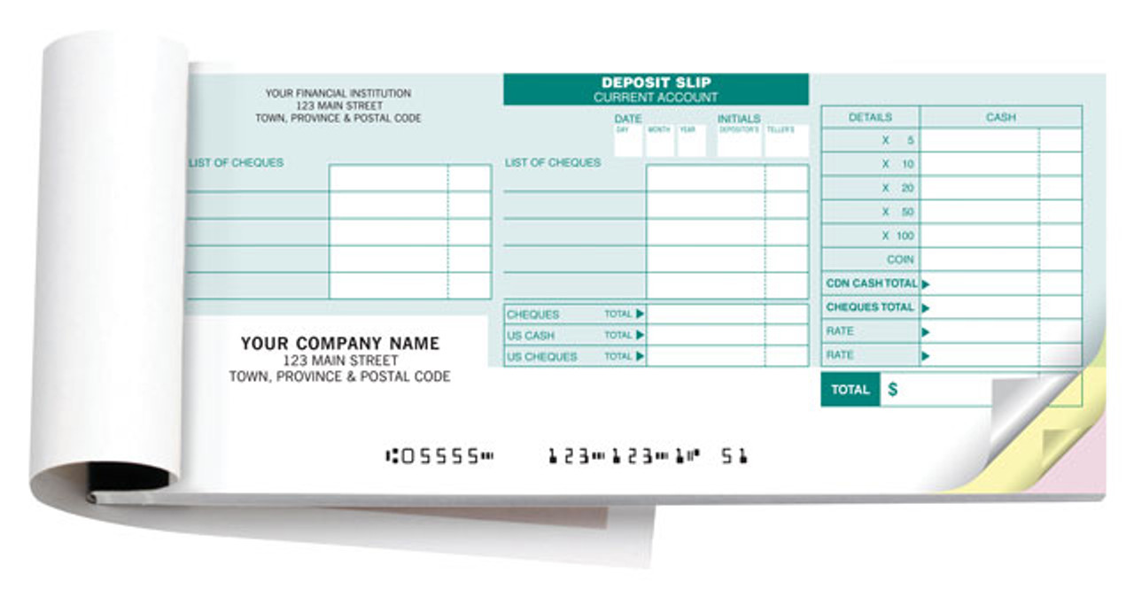 picture regarding Us Bank Deposit Slip Printable called RBC Deposit Slips
