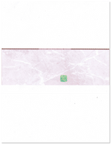 Burgundy - Cheque in Middle Product - Blank Cheques - High Security Features