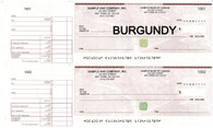 Manual Two-to-a-Page Business Cheques - High Security Features
