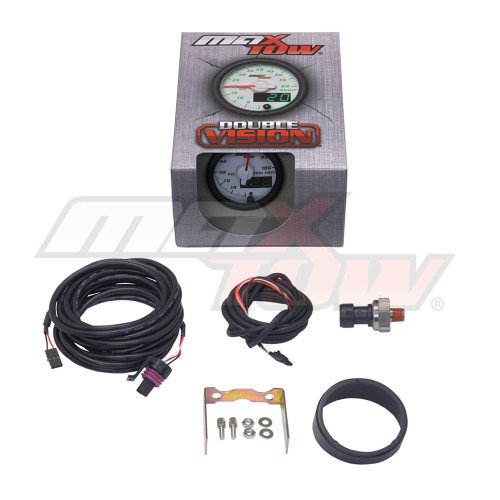 White & Green MaxTow 100 PSI Fuel Pressure Gauge Unboxed