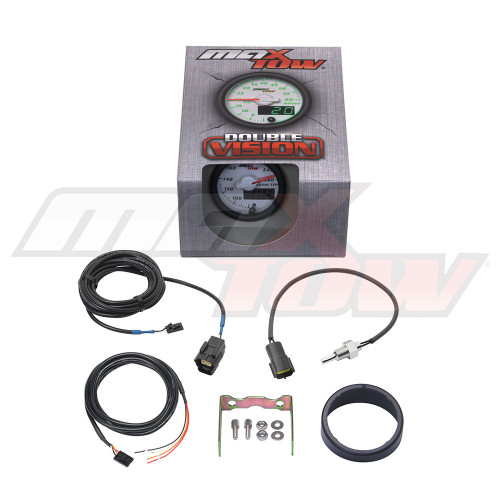 White & Green MaxTow Transmission Temperature Gauge Unboxed
