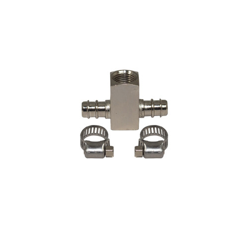 Ford Power Stroke Boost T-Fitting Adapter with Hose Clamps