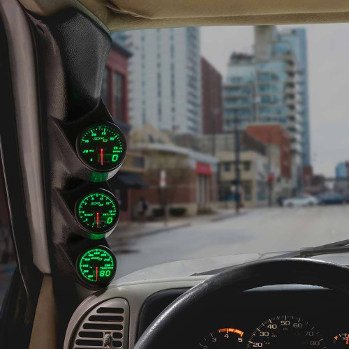 Green MaxTow Triple Gauge Package for 1995-1998 Chevrolet C/K