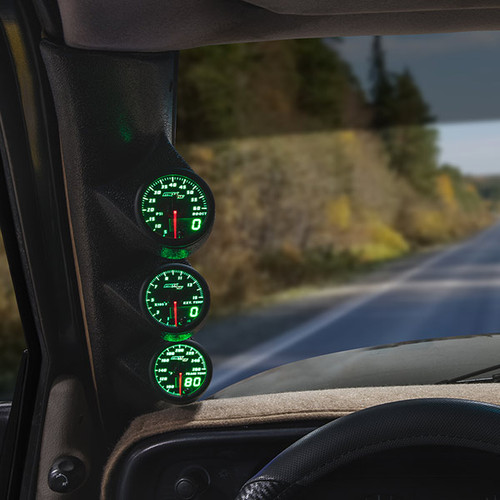 Green MaxTow Triple Gauge Package for 1994-1997 Dodge Ram Cummins