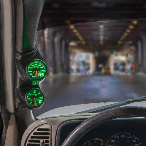 Green MaxTow Dual Gauge Package for 2000-2007 Chevrolet Silverado Duramax