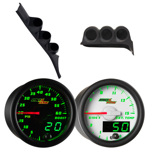 1986-1993 Dodge Ram First Gen Cummins Green MaxTow Custom Gauge Package