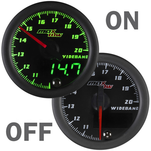 MaxTow Double Vision 10.0 to 20.0 Wideband Air Fuel Ratio Gauge