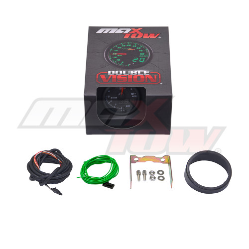 Black & Green MaxTow Tachometer Gauge Unboxed