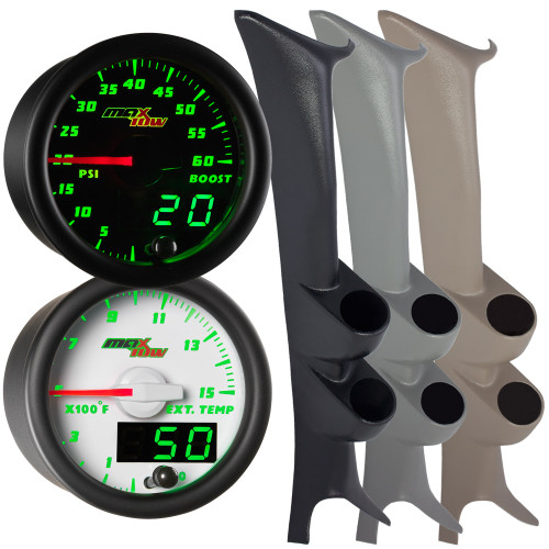 1999-2007 Ford Super Duty Powerstroke F-250 F-350 Full Size Dual MaxTow Gauge Package