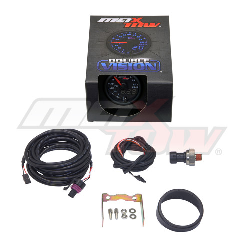 Black & Blue MaxTow 60 PSI Boost Gauge Unboxed