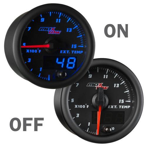 Blue MaxTow 1500 Degree Pyrometer Gauge On/Off