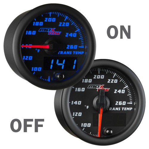 Black and Blue MaxTow Transmission Temperature Gauge On/Off